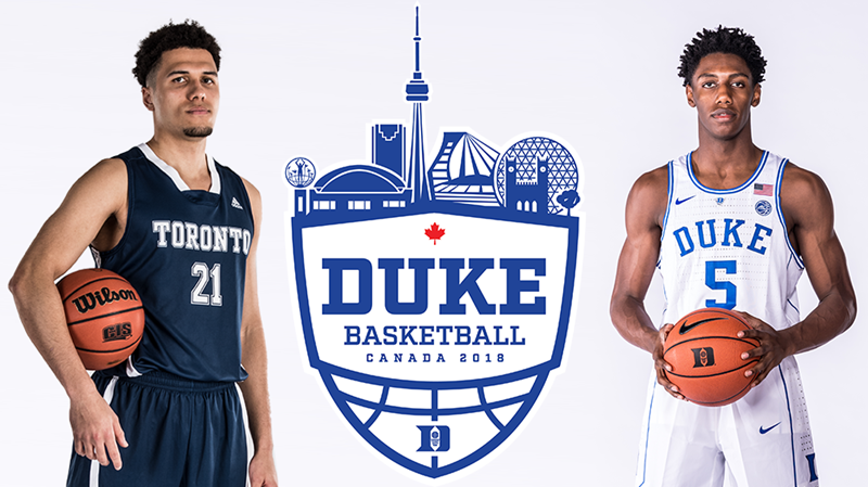TORONTO, DUKE TO MEET IN AUGUST EXHIBITION ACTION
