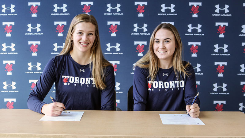 WOMEN'S HOCKEY SIGNS MONTE, POTTER TO 2020-21 ROSTER